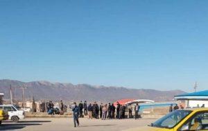 قفل درب سازمان حمل و نقل بار و مسافر شهرداری یاسوج در اعتراض به پرادخت نشدن حقوق